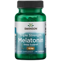Swanson Triple Strength Melatonin 10mg 60 caps - Dietary Supplement