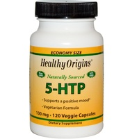 Healthy Origins 5-HTP 100 mg 120 Veggie Capsules - Dietary Supplement