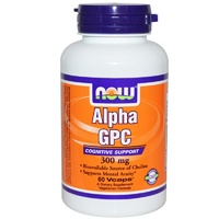 Now Foods  Alpha GPC  300mg  60 VCaps - Dietary Supplement