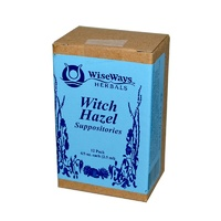 WiseWays Herbals LLC Witch Hazel Suppositories 12 Pack 2.5 ml Each