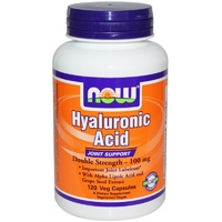 Now Foods Hyaluronic Acid Double Strength 100 mg 120 Vcaps