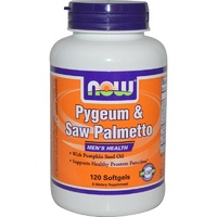 Now Foods Pygeum & Saw Palmetto Mens Health 120 Softgels