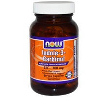 Now Foods Indole-3-Carbinol 200 mg 60 Veggie Capsules  - Dietary Supplement