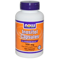 Now Foods, Inositol Capsules, 500mg, 100 Capsules ... VOLUME DISCOUNT