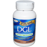 Enzymatic Therapy DGL Deglycyrrhizinated Licorice Fructose Free Sugarless 100 Chewable Tablets