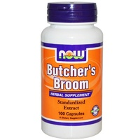 Now Foods Butcher's Broom 100 Capsules - Dietary Supplement