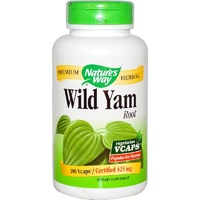 Nature's Way, Wild Yam Root, 425 mg, 180 Vcaps ... VOLUME DISCOUNT
