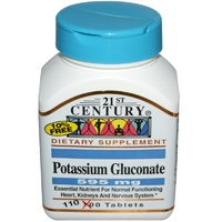 21st Century Health Care Potassium Gluconate 595mg 110 Tablets