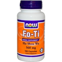 Now Foods Fo-Ti  Ho Shou Wu  560mg 100 Capsules - Dietary Supplement