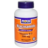 Now Foods, Niacinamide, Vitamin B-3, 500mg, 100 Capsules