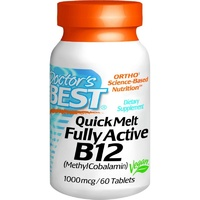 Doctor's Best Quick Melt Fully Active B12 1000 mcg 60 Tablets