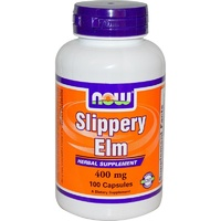Now Foods, Slippery Elm, 400 mg, 100 Capsules