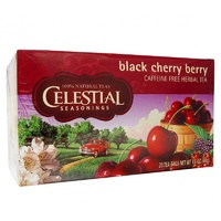 Celestial Seasonings, Tea, Black Cherry Berry, Caffeine Free, 20 Tea Bags, 44 g