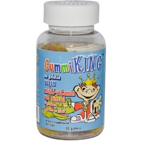 Gummi King Multi-Vitamin & Mineral Vegetables Fruits & Fiber For Kids 60 Gummies - Dietary Supplement