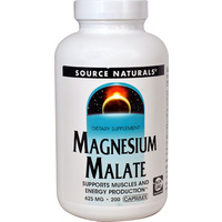 Source Naturals Magnesium Malate -- 625 mg - 200 Capsules