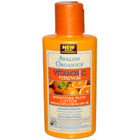 Avalon Organics, Vitamin C Renewal, Moisture Plus Lotion, 4 oz, 113 grams