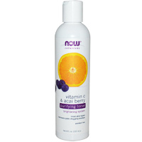 Now Foods, Solutions, Purifying Toner, Vitamin C & Acai Berry, 8 fl oz, 237 ml