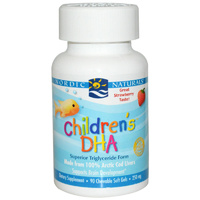 Nordic Naturals, Children's DHA, Strawberry, 250mg, 90 Soft Gels