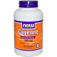 Now Foods, Cayenne, 500mg, 250 Capsules... 40,000 Heat Units