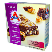 Atkins, Endulge, Nutty Fudge Brownie, 15 Bars, 40 g Each