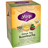 Yogi Tea, Green Tea Kombucha, 16 Tea Bags, 32g - Herbal Supplements
