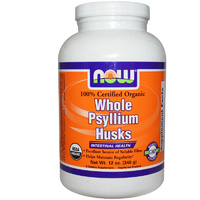 Now Foods, Organic Whole Psyllium Husks, 340 g-A Dietary Supplement