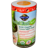 Garden of Life, Perfect Food, RAW - Organic Green Super Food, Real Apple Powder, 224 g
