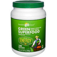 Amazing Grass, Green SuperFood, Energy Lemon Lime Drink, Powder, 700 g