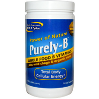 North America, Herb & Spice Co., Purely-B, Genuine Whole Foods B Vitamins, Powder, 400 g