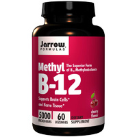 Jarrow Formulas Methyl B-12 Cherry Flavour 5000 mcg 60 Lozenges  - Dietary Supplement