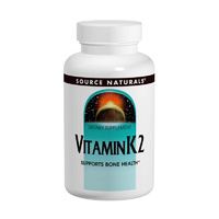 Source Naturals, Vitamin K2, 100 mcg, 60 Tablets - Dietary Supplement
