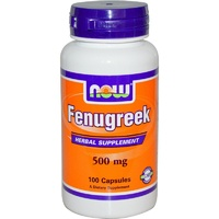 Now Foods, Fenugreek, 500 mg, 100 Capsules ... VOLUME DISCOUNT