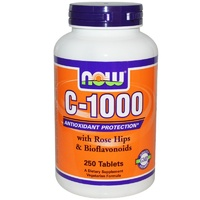 Now Foods, C-1000, with Rose Hips & Bioflavonoids, 250 Tablets