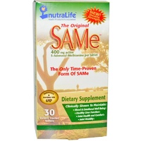 NutraLife The Original SAMe 400 mg 30 Enteric Coated Tablets
