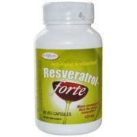 Enzymatic Therapy, Resveratrol-Forte, 125 mg, 60 VCaps