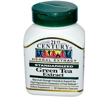 21st Century Health Care, Green Tea Extract, Standardized, 60 Veggie Caps