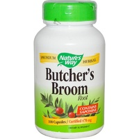 Nature's Way Butcher's Broom Root 470 mg 100 Capsules
