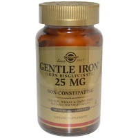 Solgar Gentle Iron 25 mg 180 Veggie Capsules - Dietary Supplement