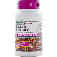 Nature's Plus Herbal Actives Black Cherry 750 mg 30 Tablets  - Standardized Botanical Supplement