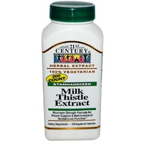 21st Century Health Care Milk Thistle Extract Standardised 200 Veggie Capsules  - Dietary Supplement