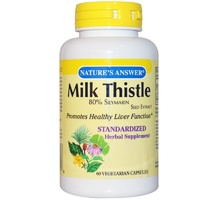 Nature's Answer Milk Thistle  60 Veggie Capsules - Herbal Supplement