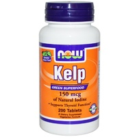 Now Foods Kelp 150 mcg 200 Tablets - Dietary Supplement