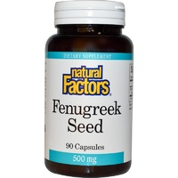 Natural Factors Fenugreek Seed 500 mg 90 Capsules - Dietary Supplement