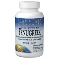 Planetary Herbals Full Spectrum Fenugreek 600 mg 120 Tablets