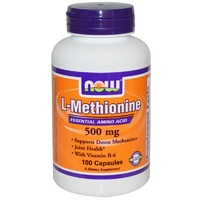 Now Foods, L-Methionine, with Vit B6, 500mg, 100 Capsules