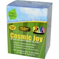 India Herbs Cosmic Joy Mood Enhancement 60 Veggie Capsules