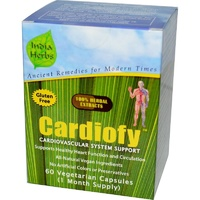 India Herbs Cardiofy Cardiovascular System Support 60 Veggie Capsules