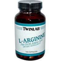 Twinlab L-Arginine 100 Capsules - Dietary Supplement