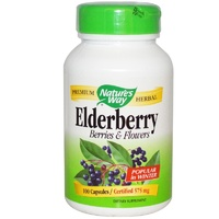 Nature's Way Elderberry Berries & Flowers 575 mg 100 Capsules