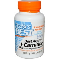 Doctor's Best, Best Acetyl-L-Carnitine, HCl,  588 mg, 60 Capsules